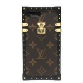 路易威登 LOUIS VUITTON LV 原花帆布鉚釘飾邊Eye-Trunk系列 Iphone 7 Plus保護套