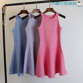 冰絲性感露肩針織修身包臀無袖連身裙洛麗的雜貨鋪