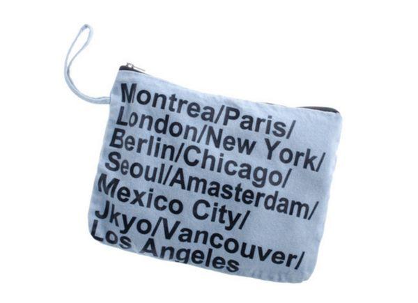 Denim bag 熱銷歐美 高級牛仔布料 旅行收納包 牛仔包 丹寧包 化妝包 牛仔手機平板電腦包
