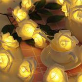 玫瑰花燈串創意生日禮物女生結婚裝飾網紅少女心房間布置led彩燈 滿天星