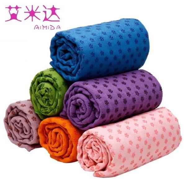 食尚玩家 瑜伽毯瑜伽墊鋪巾加長瑜珈毛巾加厚愈加毯防滑健身毯子