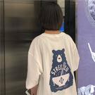 DE shop - 港味小熊白色短袖T恤 - T-5757