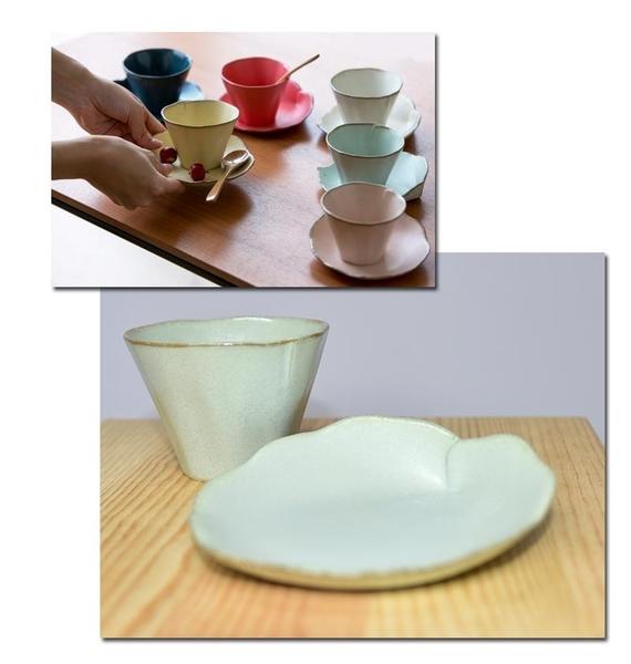 美濃燒 陶器 咖啡杯組 茶杯組 馬克杯組 日本製造 葉子造形