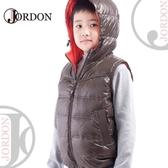【JORDON 橋登 童羽絨背心《橄綠》】0129/保暖背心/兒童背心