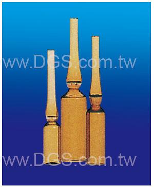 《台製》茶色安瓶 Ampul, Amber 203, Trimmed Stem