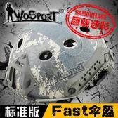 【狐狸跑跑】圓孔迷彩標準版戶外野戰必備Fast多功能軍迷頭盔