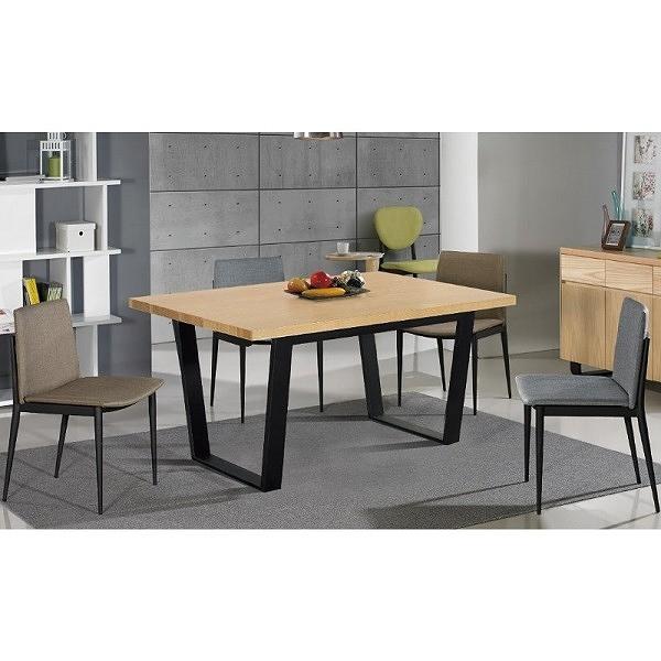 餐桌 SB-889-1 安德斯4.3尺栓木本色黑腳餐桌【大眾家居舘】