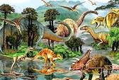木質拼圖1000片成人拼圖減壓大型益智玩具恐龍世界【聚可愛】