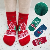 襪子 兒童襪子純棉冬季加絨加厚保暖毛圈襪男女童卡通聖誕襪全棉毛巾襪【】限時特惠