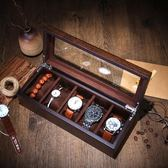 手錶收藏盒 羅威木質制手表盒手表串盒首飾項鏈腕表收納盒收藏盒展示盒五表位