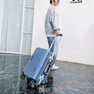 袋鼠商務萬向輪鋁框男女韓版學生新款潮流旅行箱拉桿箱密碼箱 【現貨快出】