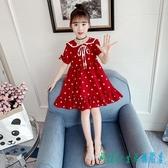 女童連身裙洋裝夏裝2020新款洋氣兒童公主裙小女孩雪紡裙子夏季潮童裝 OO6852『科炫3C』