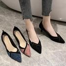 高跟鞋女細跟5cm春秋百搭低跟工作鞋女職業淺口尖頭2020新款單鞋 黛尼時尚精品