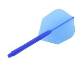 【Ptera Factory】Shaft一體型Flight Seamless Shape Medium DeepBlue 鏢翼 DARTS