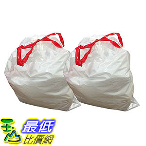 [106美國直購] Think Crucial 20PK Durable Garbage Bags Fit simplehuman size Q 50-65L / 13-17 Gallon