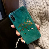 網紅iPhoneX手機殼帶掛繩同款祖母綠大理石蘋果7/8plus硅膠潮牌6S 生日禮物