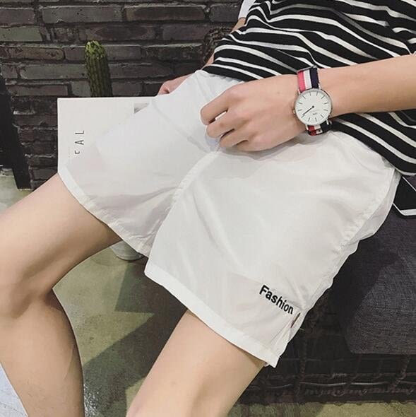 找到自己品牌 男 潮 寬鬆薄款 糖果色螢光色 休閒短褲 沙灘短褲