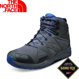 【The North Face 男款 GORE-TEX中筒輕量登山鞋 鋅灰/里蒙藍】CDL8/登山鞋/越野鞋/健行鞋★滿額送