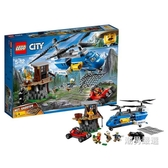積木城市組60173山地特警空中追捕City積木玩具xw