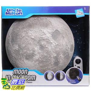 [美國直購] Uncle Milton Moon In My Room 月亮在我家 室內3D月球模型燈 科教玩具 手控變化