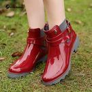 聖誕交換禮物-水靴雨靴短筒防水鞋成人韓版...