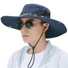 遮陽帽子男夏天釣魚帽
