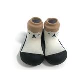韓國 Attipas 快樂腳襪型學步鞋-北極熊黑底