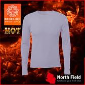 【North Field美國 男 圓領遠外線內衣《鈦灰》】保暖衣/發熱衣/膠原蛋白/吸濕排汗/親膚/第二層肌膚