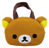 【卡漫城】 拉拉熊 造型 手提袋 ㊣版 便當袋 懶懶熊 Rilakkuma 拉鍊式 餐袋 收納 外出袋 外出包