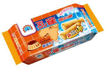 ●孔雀雞蛋布丁捲心餅63g-6包/組【合迷雅好物超級商城】