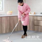 手套/圍裙 全包卡通長袖圍裙廚房做飯圍腰 成人女士可愛韓版時尚防油罩衣