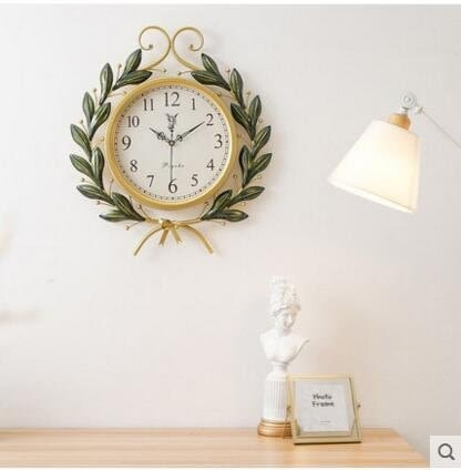藝術品美式複古創意時尚鐘錶掛鐘客廳個性石英鐘
