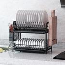 瀝水架 瀝水碗架廚房內置收納架帶蓋置物架晾放碗碟盤子家用不銹落地 【夏日新品】