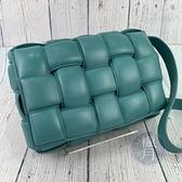 BRAND楓月 Bottega Veneta BV 591970 藍綠色 PADDED CASSETTE 枕頭包 側背包