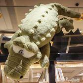 大號鱷魚公仔毛絨玩具抱枕長條枕睡覺靠墊布娃娃玩偶仿真搞怪韓國「潔思米」IGO