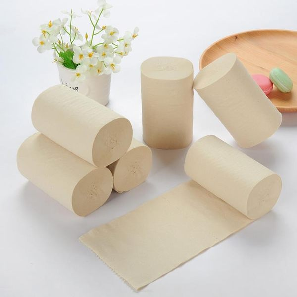 本色衛生紙原漿紙60捲散裝嬰兒紙巾捲筒紙