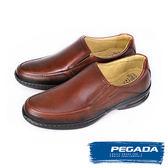【PEGADA】巴西名品真皮休閒氣墊鞋/紳士鞋  咖啡(123351-BR)
