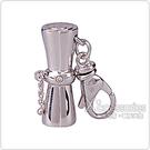 萬寶龍MONTBLANC 六角星LOGO非洲鼓設計鑽鑲吊飾(銀)