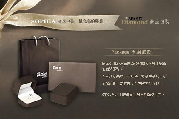 【蘇菲亞 SOPHIA】六爪鉑金 1.00克拉 鑽石項鍊