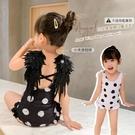 兒童泳衣女童女孩游泳衣連體可愛寶寶比基尼泳裝【君來佳選】
