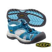 Keen Venice H2 女 護趾水陸兩用鞋 土耳其藍/粉藍 1012239
