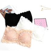性感蕾絲內衣 無肩帶式內衣 蕾絲平口內衣 蕾絲裹胸 三排釦內衣 女性內衣【E021】