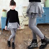 女童打底褲春秋韓版兒童裙褲加絨加厚長褲秋季假兩件褲子 果果輕時尚
