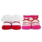 娃娃城 Baby City 芭蕾紅女童短襪2入禮盒 232元