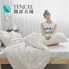 [小日常寢居]#HT016#絲柔親膚奧地利TENCEL天絲5尺雙人床包+枕套三件組(不含被套)台灣製/萊賽爾Lyocell