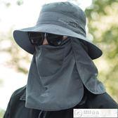 釣魚帽 帽子男夏天遮陽帽漁夫帽戶外登山太陽帽遮臉防曬帽防紫外線釣魚帽 居優佳品