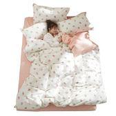 四件套-簡約小清新四件套全棉純棉少女心草莓床上用品1.5床單被套三件套