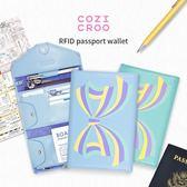護照夾 cozicroo防盜刷護照夾 RFID屏蔽NFC保護芯片防磁防消磁卡套錢包【美物居家館】