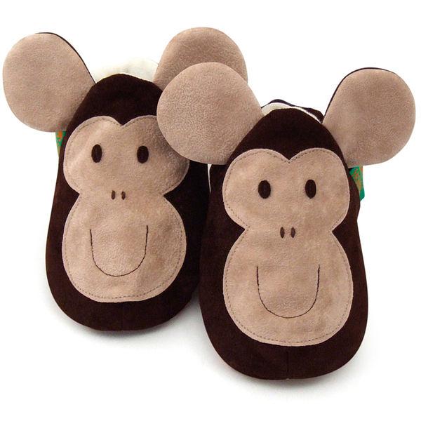 英國 Funky Feet 手工學步鞋 室內鞋 猴子 6-24M