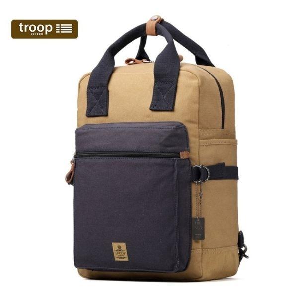 【TROOP】傳統簡約 HERITAGE雙肩包 手提後背2用包/TRP0419NC